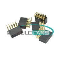 20PCS 2.54mm Pitch 2x5Pin Header Angle Female Right Double Row Socket Connector