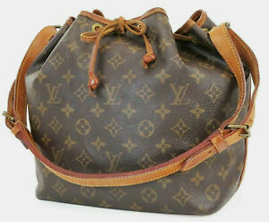 Authentic LOUIS VUITTON Petit Noe Monogram Shoulder Tote Bag Purse #39392