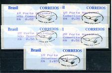 Brasilien 5 Werte gestempelt / ATM .......................................2/1670