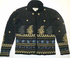 Womens M Orvis Cardigan Dark Grey Cable Knit Lambswool Wool Nylon Sweater Lambs