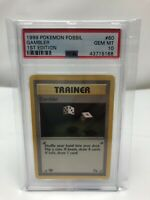 1999 Pokemon Fossil Gambler - 1st Edition PSA 10 Gem Mint Card #60