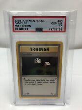 1999 Pokemon Fossil Gambler - 1st Edition PSA 10 Gem Mint Card #60