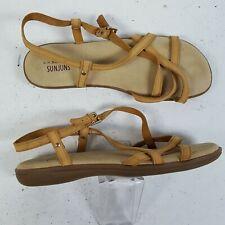 G.H. Bass Sunjuns Margie Leather Gypsy Sandal Shoe Size 11 WW