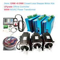 12NM+8.5NM Closed Loop 3Axis Stepper Motor Nema34 Servo Drive&Upgrade Controller