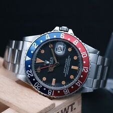 AUTHENTIC MINT ROLEX GMT MASTER REF 16750 GREAT PATINA 1980 , RL_943924