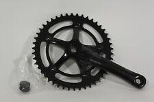 SE Bike Black Crankset 1x, Track, Singlespeed, Fixie 165mm 46t crank set Lasco