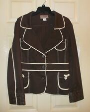 Womens True Vintage Chocolate Brown Blazer Jacket By Cherie Size 16 Bust 42