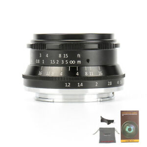 7artisans 35mm F1.2 Large Aperture APS-C Lens For EOS-M/ FUJI FX/ SONY E/ M43