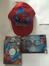Marvel Spider-Man Baseball Cap / Swim Ring / Swimming Goggles Set (New!)