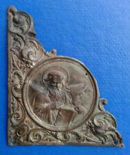 Ancient Bronze Book Cover 17 -18 century. Luke the Evangelist.