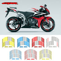 """MOTORCYCLE RIM """"17 STRIPES WHEEL DECALS TAPE STICKERS FOR HONDA CBR"""