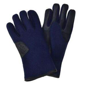 NWT UGG Leather GLOVES Navy Large 17431 MEN'S