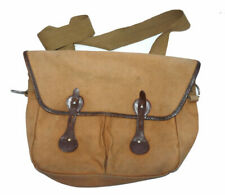 Traditional canvas and leather game fishing bag, fishing travel or casual TT ...