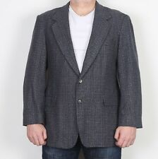 "Tweed Tailored Jacket Blazer coat 42"" Blue Medium Large (A2R)"
