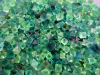 1/2 lb Beautiful Blue & Green Fluorite Octahedron Crystals - Bulk Lot care