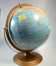 "Vintage George F CRAMS ""SCOPE O SPHERE"" 12""-World Globe- Metal Stand"