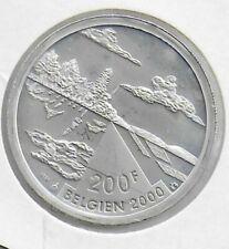 200 Francs argent 2000 Belgien en QP seulement 5000 frappes