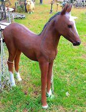 Life-Size Quarter-Horse Foal Chestnut Brown Poly-Resin Fiberglass Statue