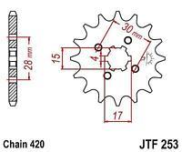 JT Front Sprocket JTF253.14 Honda MSX125 Z50 Z125 Monkey 14 Tooth