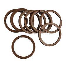 10Pcs Vintage Copper Flat Round Key Ring 32mm Split Ring Keychain Craft
