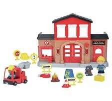 Chad Valley Tots Town Fire Station Playset Sound The Alarm And Start The Engine