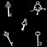 älter Silber Schlüssel Anhänger Perlen Beads M1603