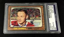 TED HARRIS SIGNED 1966 TOPPS MONTREAL CANADIENS CARD #41 PSA/DNA 83749070