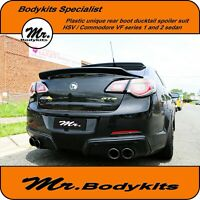 Mr Unique Plastic Boot Ducktail Spoiler Wing For VF HSV/Clubsport/R8/GTS/Senator