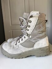 Magnum Waterproof Walking Shoe Flat  Cream Leather Calf Ankle Boot Size 3 L