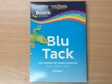 Blu Tack Bostik original, blue sticky reusable handy pack free post!