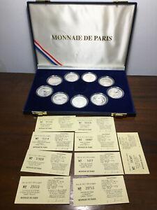Coffret 9 Monnaies de 100 Francs Jeux Olympique Albertville 92 + Certificat