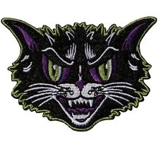 Kreepsville 666 Kattitude Embroidered Patch Black Cat Horror Halloween NEW