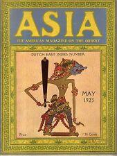 1923 Asia May-Dutch East indies Number; Roy Chapman Dndrews Dinosaurs; King Tut