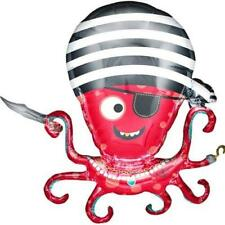 Pirate...LARGE Foil Party Balloon...Octopus...89cm