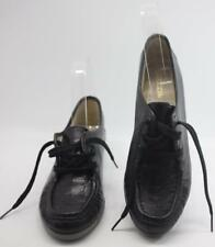 Naturalizer Women's Black Leather Lace Up Flat Comfort Loafers Size 7  Shoes