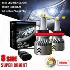 8 Side 110W 30000LM H8 H9 H11 360° Car Canbus LED Headlight Lamp Kit White 6000K