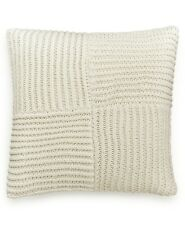 """Hotel Collection Waffle Weave 20"""" Cotton Linen Knit Decorative Pillow - Ivory"""