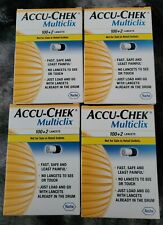 Accu-Chek  Multiclix Lancets 4 Boxes (408 Lancets ) ALL EXPIRED! NIB