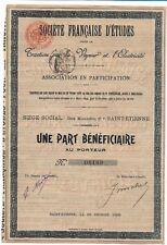 Empresa Francesa estudios Tracción por la Vapor y la electricidad 1899
