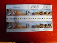 FARMING AUSTRALIA FDC WITH GUTTER STRIP OF 10 STAMPS FDI POSTMARK