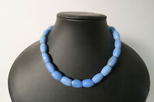 Russian blue Glasperlen facettiert CP52 Russian Blue African Trade Beads Afrozip
