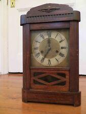 Junghans Alemán Gong llamativo Reloj-década de 1920-Reloj De Madera Antiguo