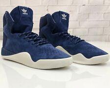 Adidas Originals Tubular Instinct Hi Top Blue Suede Sneakers S80083 Mens Size 10