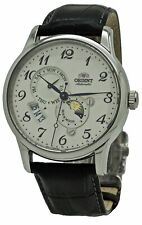 Orient Sun and Moon Automatic RA-AK0003S Black Leather Band Men's Watch