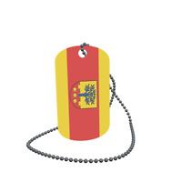 Dog Tag Flagge Fahne Angermünde Erkennungsmarke Alu 30 x 50 mm