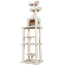 "78"" Super Large Cat Tree Pet House Condo Furniture Cats Tower Club Post White"