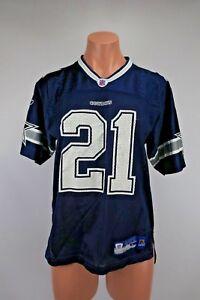 J. JONES #21 DALLAS COWBOYS FOOTBALL JERSEY Youth Sz L Blue REEBOK
