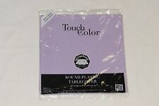 """Touch of Color, Plastic Table Cloth, 82"""" Round Cover - Luscious Lavender"""