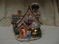FIBER OPTIC CANDYLAND VILLAGE HOUSE W/COOKIES/TREES/PEOPLE & MUCH MORE
