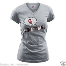 "Oklahoma Sooners ""Awesome"" Glittery Animal Print Shirt  ~ Med 7/9 ~ NWT $22.00"